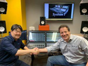 Nilson Fujisawa (LineUP) fechando parceria de revenda autorizada com Max Noach (SSL)